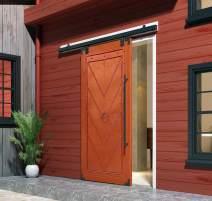 DIYHD M0083-5ft Box Rail Hardware Heavy Duty Steel Sliding Barn Door Track, 5FT, Wall Mount Kit