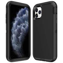 ATESSON Case for iPhone 11 Pro Case Heavy Duty Shockproof Full-Body Protective Scratch Resistant Hard Shell Bumper Cover for Women Men Phone Cases for iPhone 11 Pro 5.8 Inch 2019 (Black)