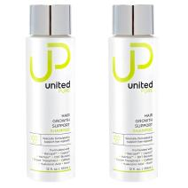 United Pure Hair Growth Support Shampoo, 2X 12Oz Bottles | DHT Blocking Anti Hair Loss Set | w/ Baicapil, Capixyl, HairSpa, Biotin | Hyaluronic Acid, Keratin, Copper Tri-Peptide 1, Saw Palmetto & More