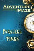 Adventure Maze: Parallel Times, Time Travelling Themed Paperback Folding Puzzle Book, w/ 16 Stickers & Short Story