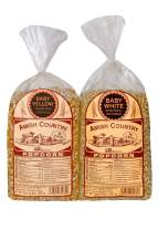 Amish Country Popcorn | 2 Lb Baby White & 2 Lb Baby Yellow Popcorn Kernels | Old Fashioned with Recipe Guide