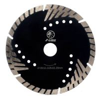 "Diamond Saw Blade 6"" Inch Turbo Diamond Segments Blade for Marble Granite Stone Pavers Concrete Wet/Dry Cutting"