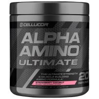 Cellucor Alpha Amino Ultimate EAA & BCAA Recovery Powder + HMB, Essential & Branched Chain Amino Acids For Post Workout Hydration, Strawberry Coconut, 20 Servings