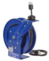 Coxreels PC13-3512-A Power Cord Spring Rewind Reels: Single Industrial Receptacle, 35' Cord, 12 AWG
