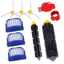 GHB Parts for iRobot Roomba 595 620 630 645 650 655 660 Replenishment Kit 10Pcs 600 Series Replacement Brushes Kit