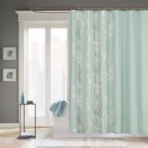 Madison Park Athena Polyester Shower Curtain Green