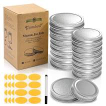 GUMBALL Mason Jar Lids 16 Pack, 8 Wide Mouth & 8 Regular Mouth Mason Jar Lids, Food-Grade Storage Caps for Mason Jars, Leak Free and Air Tight and Fits Ball, Kerr & More (Silver)