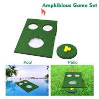 OOFIT Golf Cornhole Game Backyard Golf Chipping Practice Game Set, Bean Bag Toss Game with Golfing Target Backyard Accuracy Practice Swing Game for Indoor/Outdoor