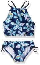 Kanu Surf Girls' Daisy Beach Sport Halter Tankini 2-Piece Swimsuit