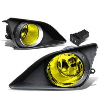Replacement for Corolla E140 / E150 Pair of Bumper Driving Fog Lights + Bezel + Wiring Kit + Switch (Amber Lens)
