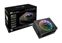 Thermaltake Toughpower iRGB Plus 1200W 80+ Platinum Digital RGB LED Smart Zero Fan SLI/Crossfire Ready ATX12V v2.4 / SSI EPS v2.92 Power Supply 10 YR Warranty PS-TPI-1200F2FDPU-1