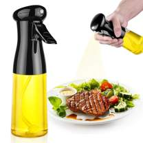 Oil Sprayer for Cooking, 210ml Olive Oil Dispenser Bottle, Premium Cooking Gadgets, Best Kitchen Gadgets for Cooking, Widely Used for Salad, BBQ, Baking, Roasting, Frying (Black)
