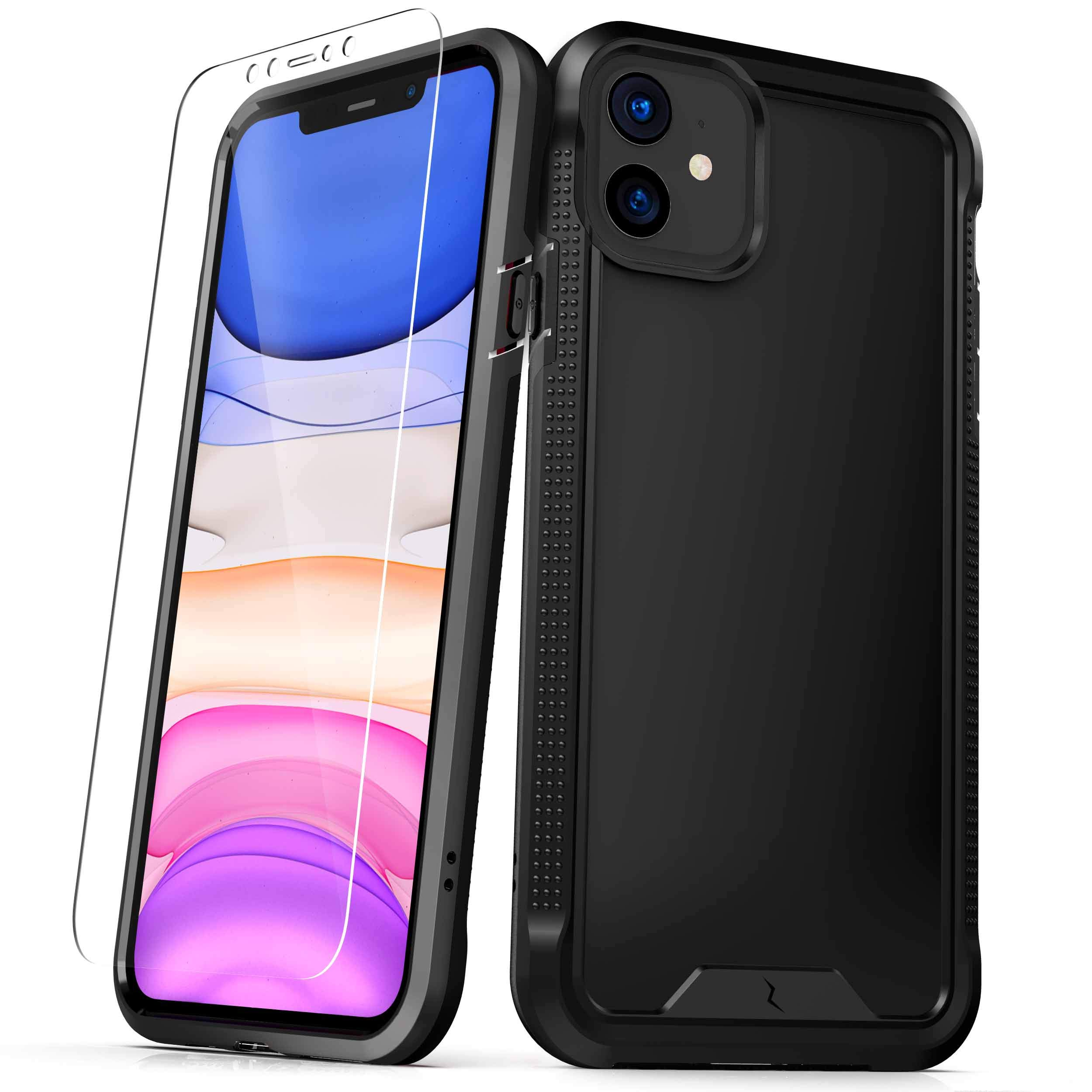 ZIZO ION Series for iPhone 11 Case - Military Grade Drop Tested with Tempered Glass Screen Protector - Matte Black