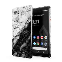 BURGA Phone Case Compatible with Google Pixel 2 XL - Fatal Contradiction Black and White Marble Yin and Yang Cute Case for Girls Thin Design Durable Hard Plastic Protective Case