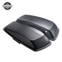Moto Onfire Charcoal Denim, Dual 6x9 inch, Speaker Lids Fit for Harley Touring, Street Glide, Road Glide, 2014 2015 2016 2017 2018 2019 2020