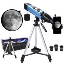 Astronomical Telescope for Kids,60mm Aperture Telescopes for Astronomy Beginners,Telescopes Astronomy Adult Professional with Adjustable Tripod,Phone Adapter,Refractor Telescope for Gifts