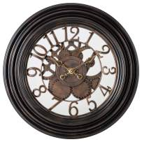 Pacific Bay Dortmund Large Decorative Light-Weight 20-inch Wall Clock Silent, Non-Ticking, 3-D Aluminum Dial, Easy-to-Read, Quartz Battery Operated, Glass Face Cover