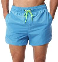 BALCONY /& FALCON Mens Board Shorts with Pockets Quick Dry Swim Trunks Mesh Lining Lightweight Sportswear Beach Causal