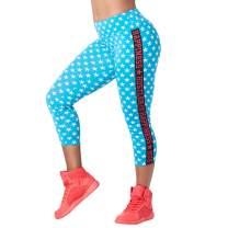 Zumba Dance Fitness Compression Pants Workout Print Capri Leggings for Women