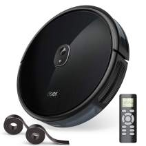 1600Pa Robot Vacuum, dser Robotic Vacuum Cleaner, BoostGen Technology, 360° Smart Sensor Protection, Self-Charging with 2 Boundary Strips, Quiet, Cleans Carpets and Pet Hair (RoboGeek 20T)