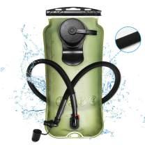 XGear Hydration Bladder 3 Liter Leak-Proof Water Reservoir, Military Class TPU Water Bladder Bag, BPA Free Hydration Pack, for Hiking Biking Climbing Cycling Running (Green/ 3L)
