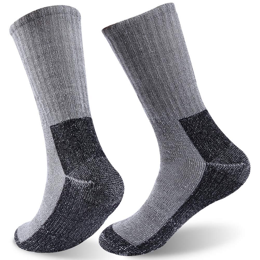 Merino Wool Hiking Socks, FOOTPLUS Unisex Winter Warm Thermal Heavy Extreme Cold Weather Boot Crew Camping Trekking Socks