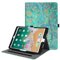 "Fintie Case for iPad Air 10.5"" (3rd Gen) 2019 / iPad Pro 10.5"" 2017 - [Corner Protection] Multi-Angle Viewing Folio Stand Cover with Pocket, Pencil Holder, Auto Wake/Sleep, Shades of Blue"