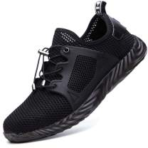 ALGGORUN Steel Toe Shoes for Men, Indestructible Shoes Lightweight Breathable Puncture Proof Safety Shoes for Women
