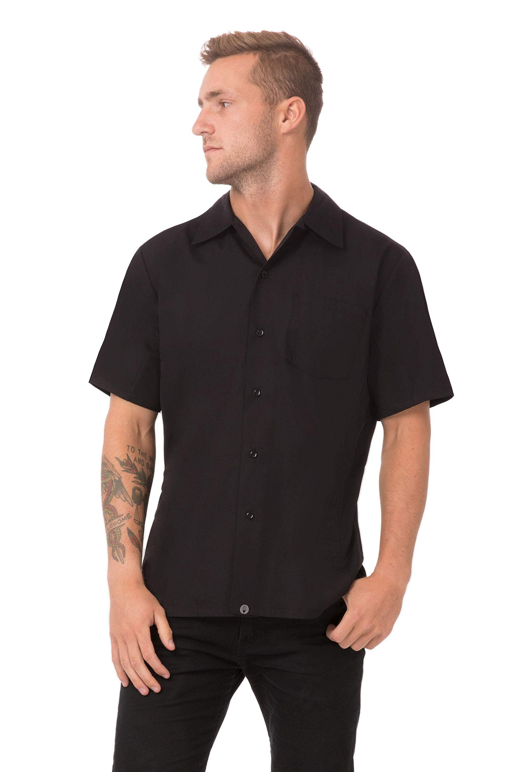 Chef Works Men's Cool Vent Cook Shirt