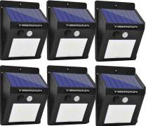 Solar Lights Outdoor, Motion Sensor Light 20 LED Flood Lights for Home Security, Patio, Wall, Pathway, Garden, Yard |Bright Waterproof Dusk to Dawn Lighting (6-Pack) (Pin Activation)