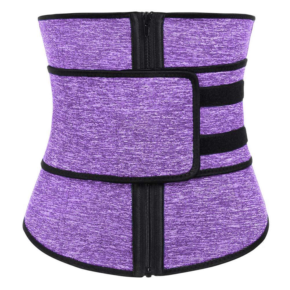 DANALA Women's Waist Cincher Neoprene Zipper Velcro High Compression Waist Trainer Corset for Weight Loss