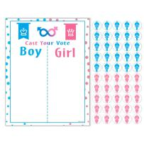 PROLOSO Baby Shower Gender Reveal Voting Board Team with Pink & Blue Stickers (Boy or Girl)