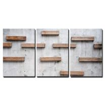 """wall26 - 3 Piece Canvas Wall Art - Wood Texture with Nature Form - Modern Home Decor Stretched and Framed Ready to Hang - 24"""" x 16"""" x 3 Panels"""