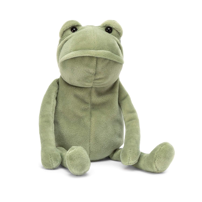 Jellycat Fergus Frog Stuffed Animal, Little, 8 inches