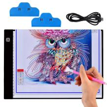 A4 Ultra-Thin Tracer Portable LED Light Box, Artist Tracing Light Pad for Drawing, USB Power Dimmable Tracing Light Box for Diamond Painting, Drawing, Sketching, Animation, X-ray