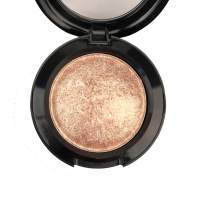 Mallofusa Single Shade Baked Eye Shadow Palette Glitter Powder in Shimmer 15 Metallic Colors Optional (Golden)