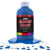 US Art Supply Neon Blue Fluorescent Special Effects Acrylic Airbrush Paint 8 oz.