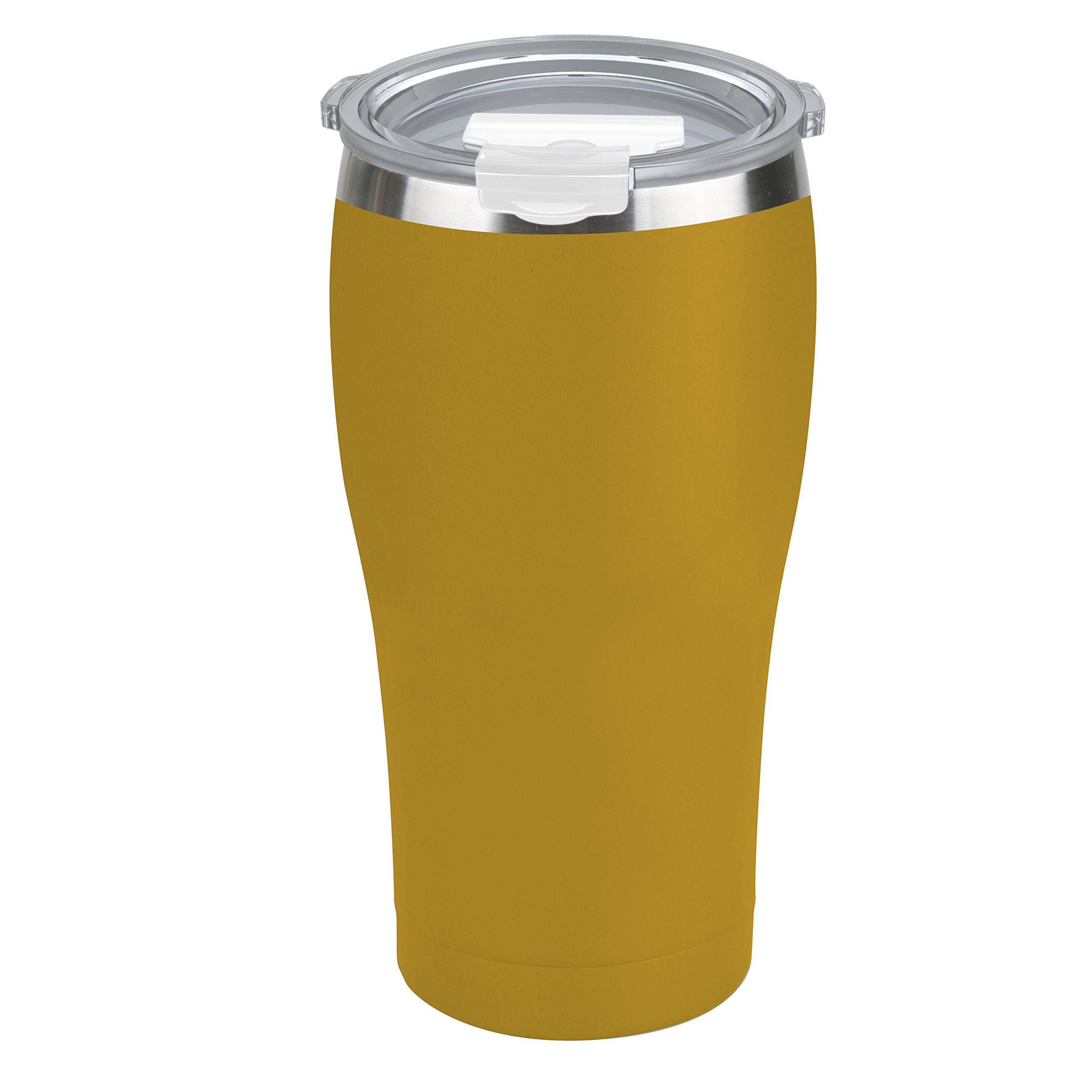 Tahoe Trails 16 oz Stainless Steel Tumbler Vacuum Insulated Double Wall Travel Cup With Lid, Cyber Yellow