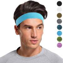 SHINYMOD Sports Headband for Men and Women,Non-Slip & Sweat Wicking Athletic Sweatband for Running,Yoga,Crossfit,Working Out & Basketball-Performance Stretch