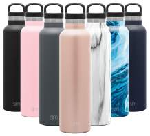 Simple Modern 24oz Ascent Water Bottle - Hydro Vacuum Insulated Tumbler Flask w/Handle Lid - Pink Double Wall Stainless Steel Reusable - Leakproof: -Rose Gold