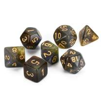 FLASHOWL Multicolor Starry Sky Dices Set, Chameleon DND Dice Set for Role Playing Game, Table Game, Polyhedral Game Dice Set Dungeons and Dragons Dice(7 Pieces)