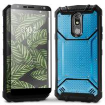 Evocel LG K40 Case Magnext Series with Glass Screen Protector and Magnetic Metal Back Plate for LG K40, Blue