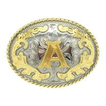 Western Belt Buckle Initial Letters ABCDEFG to Y-Cowboy Rodeo Gold Large Belt Buckle for Men and Women (ABC-Z) …