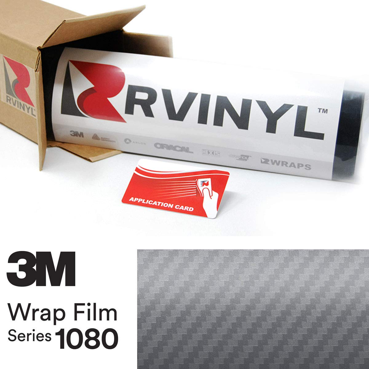 3M 1080 CFS201 Carbon Fiber Anthracite 4in x 6in (Sample Size) Vinyl Vehicle Car Wrap Film Sheet Roll
