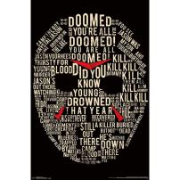 """Trends International Friday The 13th Text Mask Wall Poster 22.375"""" x 34"""""""
