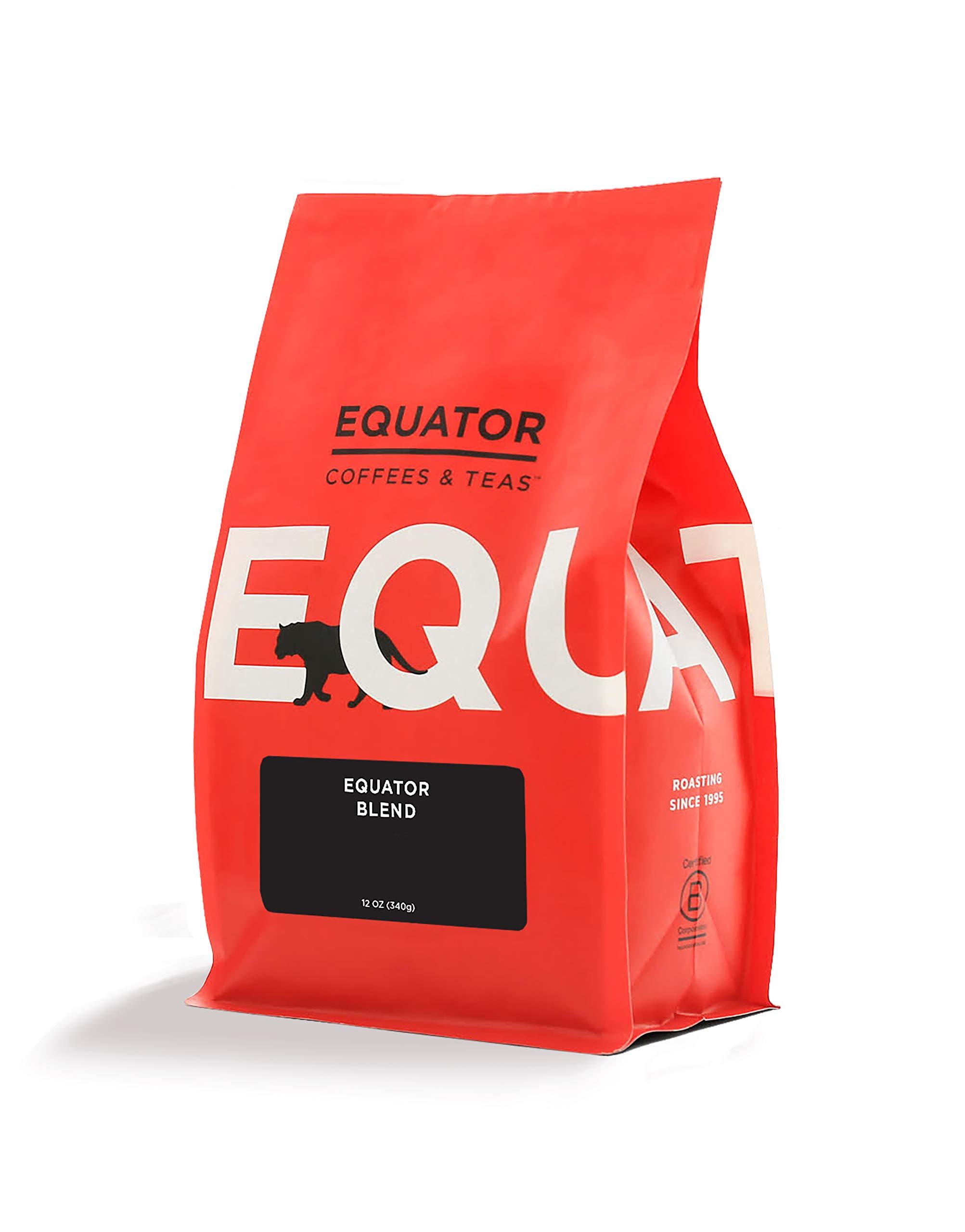 Equator Coffees & Teas equator Blend, Roasted Fine Ground Coffee for Espresso Or Moka Pot,, 12 Oz ()
