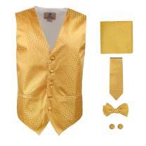 Y&G YGA1C01 Pretty Plaid Mens Vest Tie Cufflinks Hanky Bowtie Great Goods
