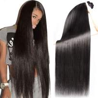 Human Hair Bundles Straight 3 Straight Brazilian Bundles Full And Soft Hair 24 26 28 Thick And Soft Hair Double Weft Natural Black Color 8a Grade Hair No Smell For Women