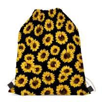 doginthehole Sunflower Bag Gifts for Women Girls,Kids,Children Drawstring Backpack Shoulder String Sackpack