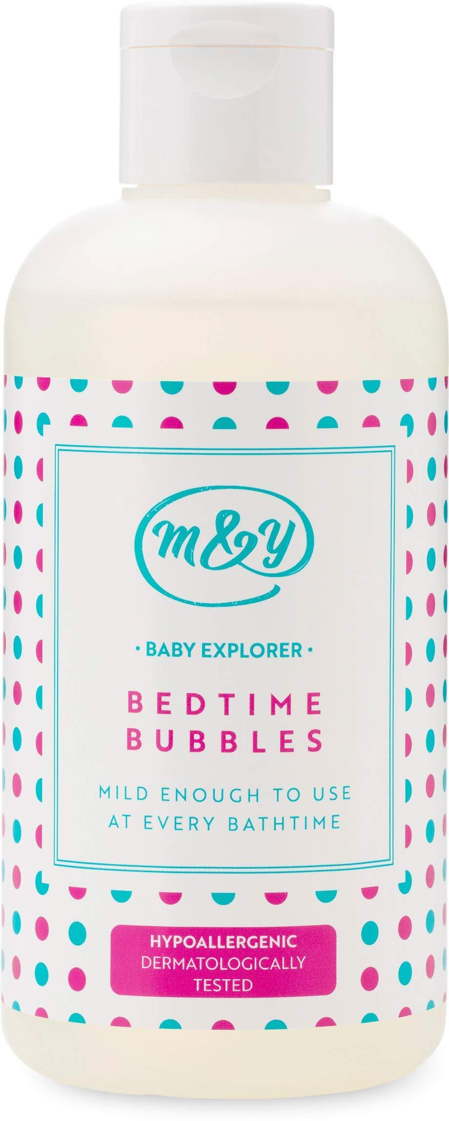 Mum & You Baby Explorer Bedtime Bubbles,1 ea (8.45 fl oz), Formulated Without Major Allergens. Hypoallergenic & Dermatologically Tested. Light Bedtime Fragrance. Suitable for Sensitive Skin